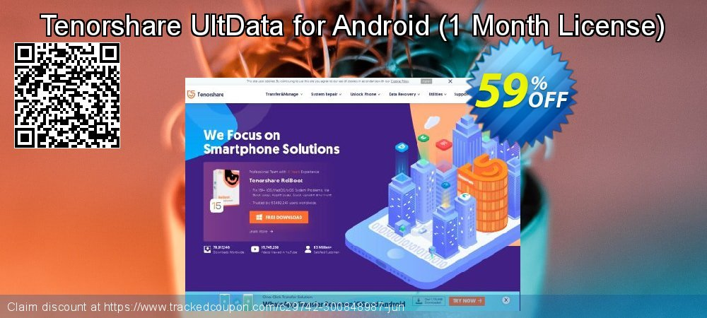 Claim 59% OFF Tenorshare UltData for Android - 1 Month License Coupon discount June, 2020