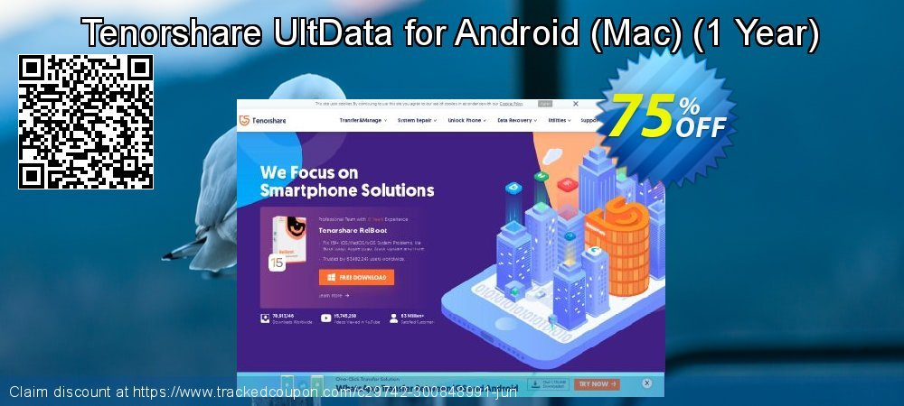 Claim 75% OFF Tenorshare UltData for Android - Mac - 1 Year Coupon discount May, 2021