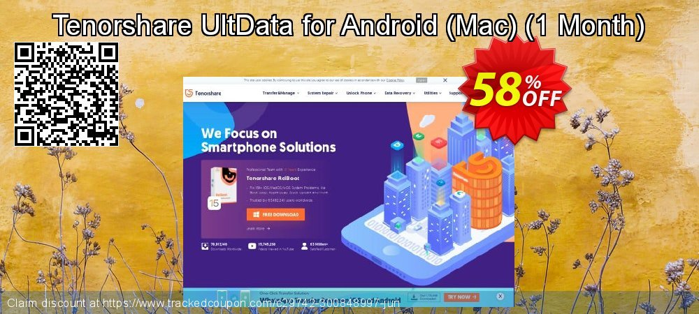 Claim 58% OFF Tenorshare UltData for Android - Mac - 1 Month Coupon discount May, 2021