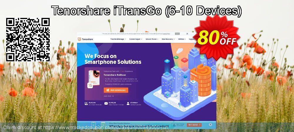 Tenorshare iTransGo - 6-10 Devices  coupon on Back to School deals deals