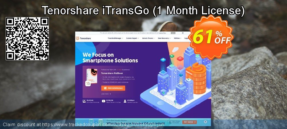 Get 60% OFF Tenorshare iTransGo (1 Month License) discount