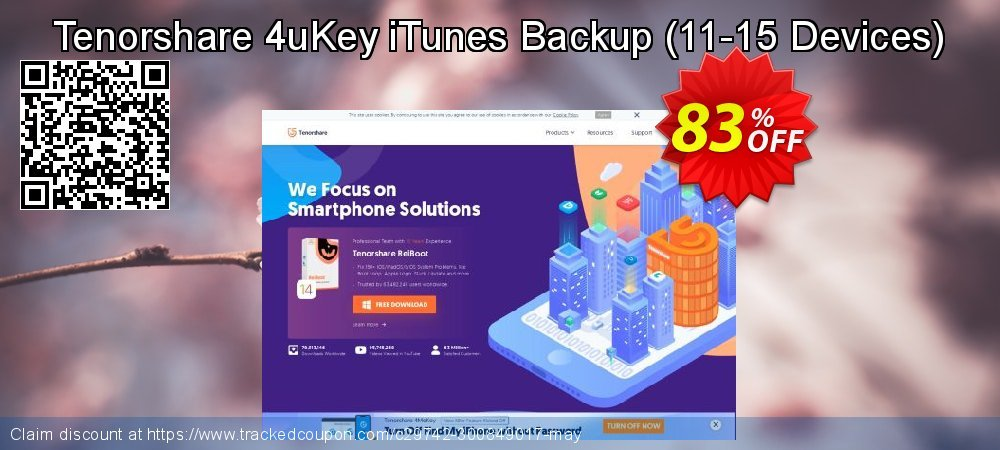 Tenorshare 4uKey iTunes Backup - 11-15 Devices  coupon on Back to School deals sales