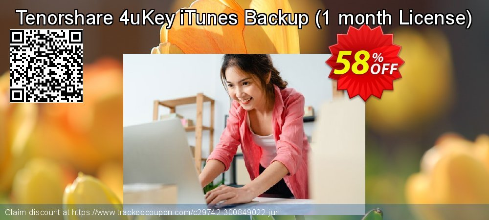 Tenorshare 4uKey iTunes Backup - 1 month License  coupon on All Hallows' evening super sale