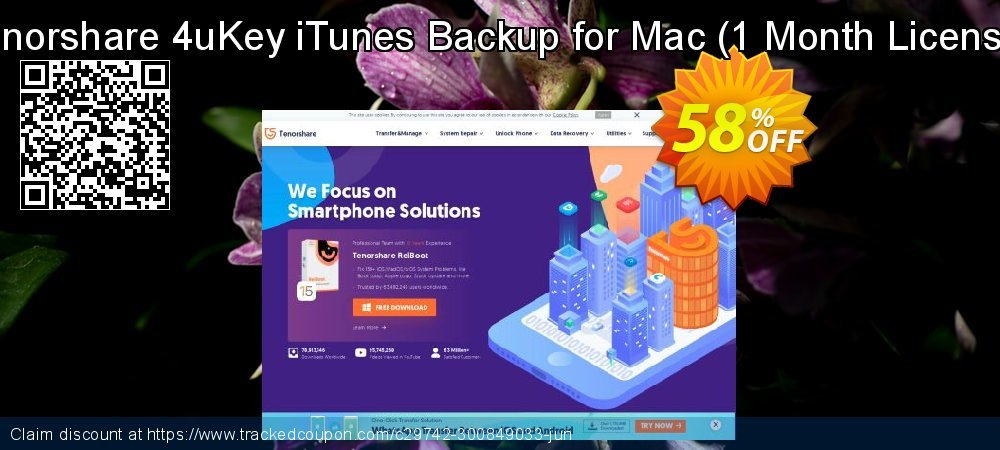 Tenorshare 4uKey iTunes Backup for Mac - 1 Month License  coupon on All Hallows' evening promotions
