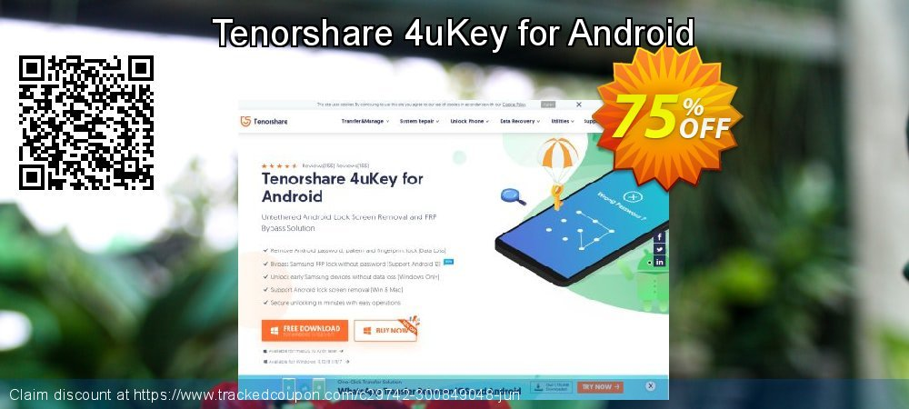 Tenorshare 4uKey for Android coupon on Back to School promo offering discount