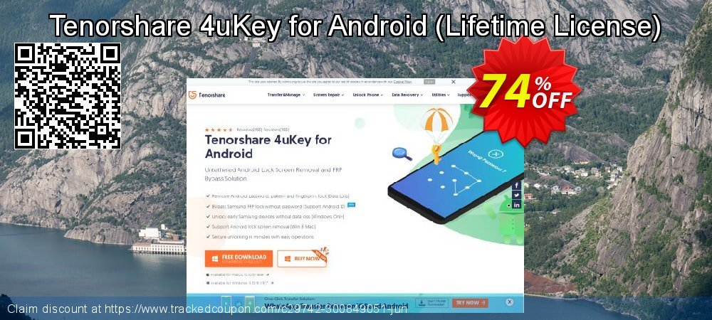 Tenorshare 4uKey for Android - Lifetime License  coupon on Navy Day promotions