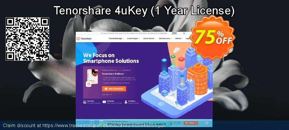 Tenorshare 4uKey - 1 Year License  coupon on All Hallows' evening discount