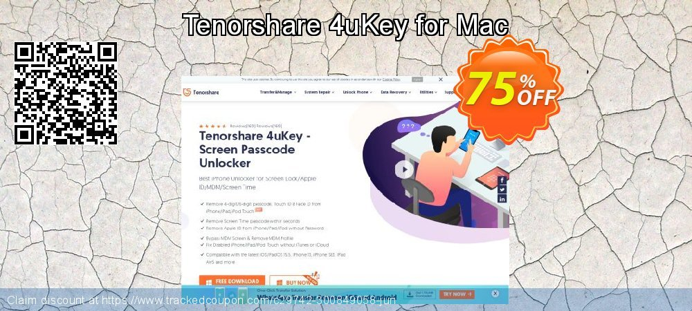 Tenorshare 4uKey for Mac coupon on Chinese National Day super sale
