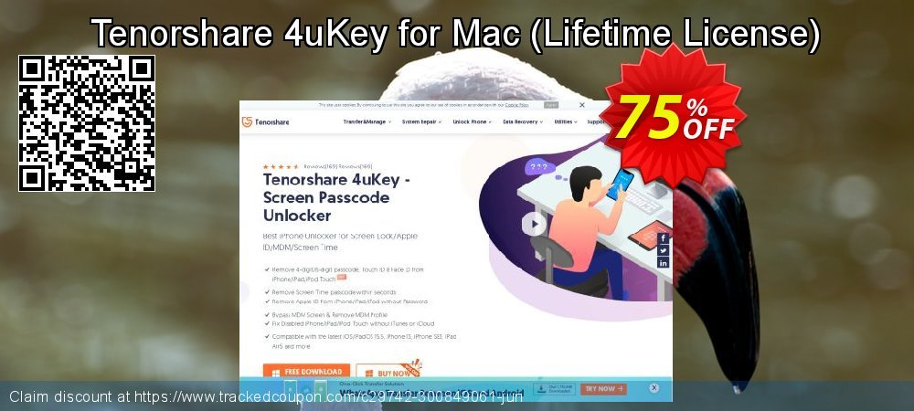 Tenorshare 4uKey for Mac - Lifetime License  coupon on Halloween sales