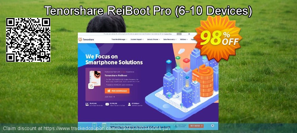 Get 98% OFF Tenorshare ReiBoot Pro (6-10 Devices) sales