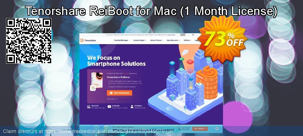 Get 67% OFF Tenorshare ReiBoot Pro for Mac offering sales