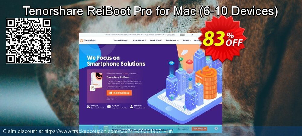 Claim 83% OFF Tenorshare ReiBoot Pro for Mac - 6-10 Devices Coupon discount June, 2020