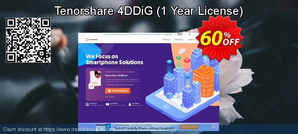 Claim 60% OFF Tenorshare 4DDiG Windows Data Recovery - 1 Year License Coupon discount May, 2021