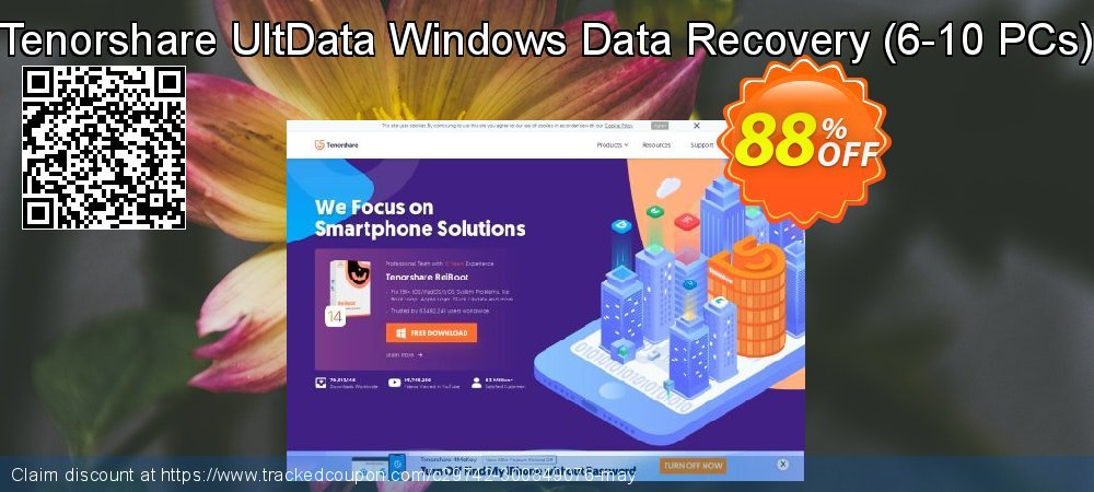 Tenorshare UltData Windows Data Recovery - 6-10 PCs  coupon on Halloween super sale