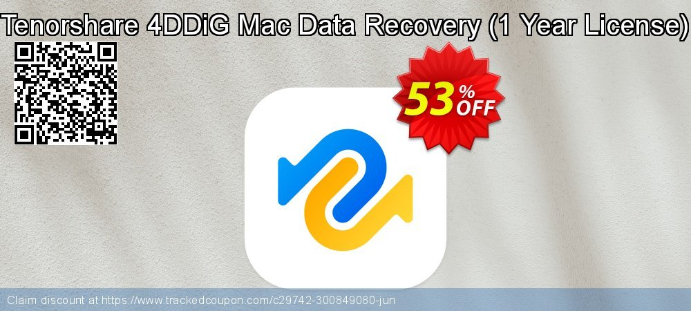 Tenorshare 4DDiG Mac Data Recovery - 1 Year License  coupon on Chinese National Day deals