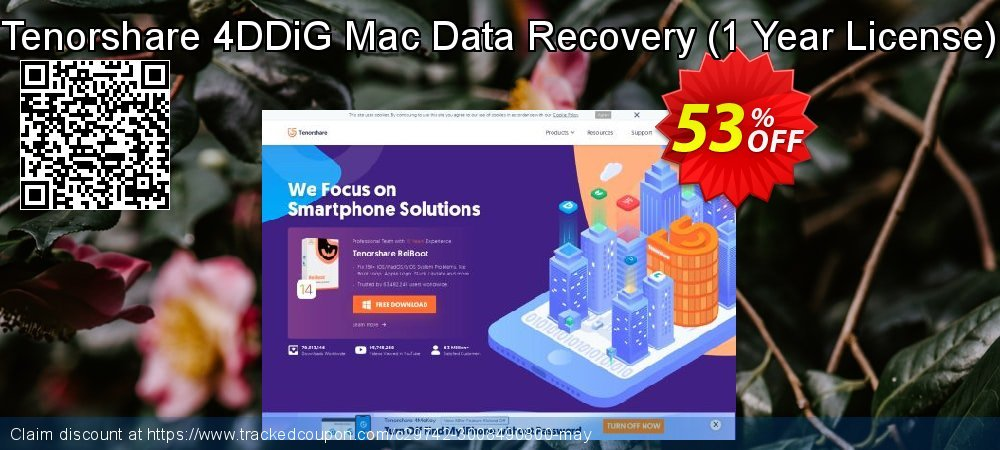 Claim 53% OFF Tenorshare 4DDiG Mac Data Recovery - 1 Year License Coupon discount May, 2021