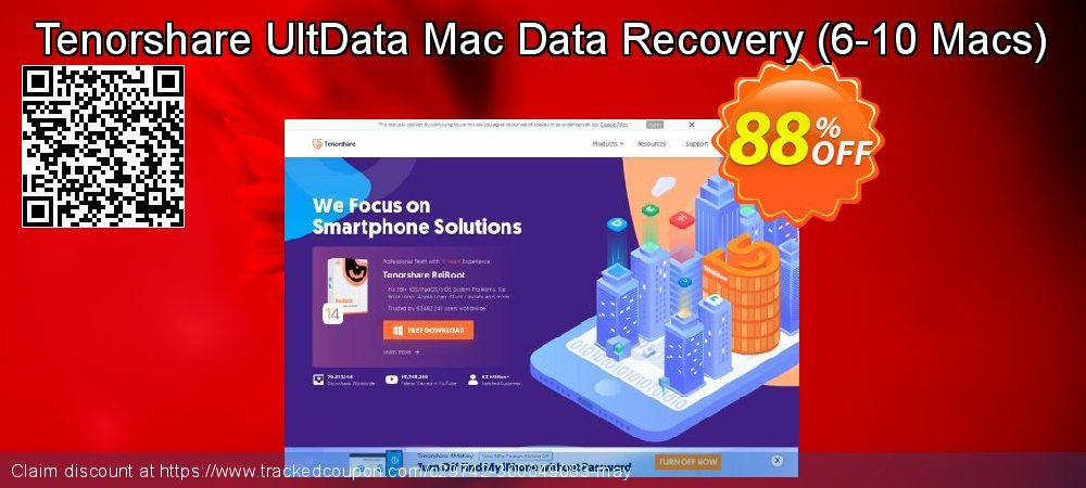 Get 80% OFF Tenorshare UltData - Mac Data Recovery (6-10 Macs) promo sales