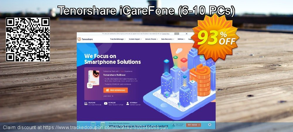 Tenorshare iCareFone - 6-10 PCs  coupon on Back to School offer discounts