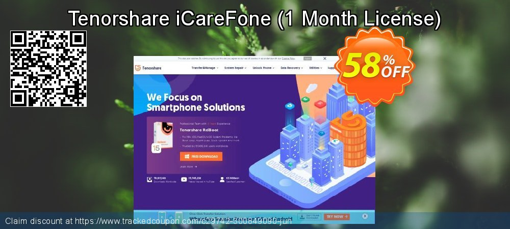 Tenorshare iCareFone - 1 Month License  coupon on Halloween offer