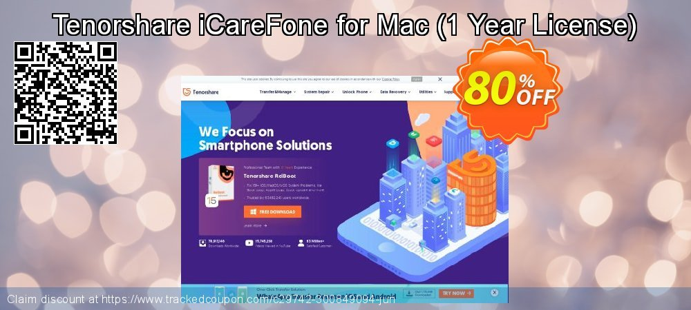 Tenorshare iCareFone for Mac - 1 Year License  coupon on National Noodle Day super sale
