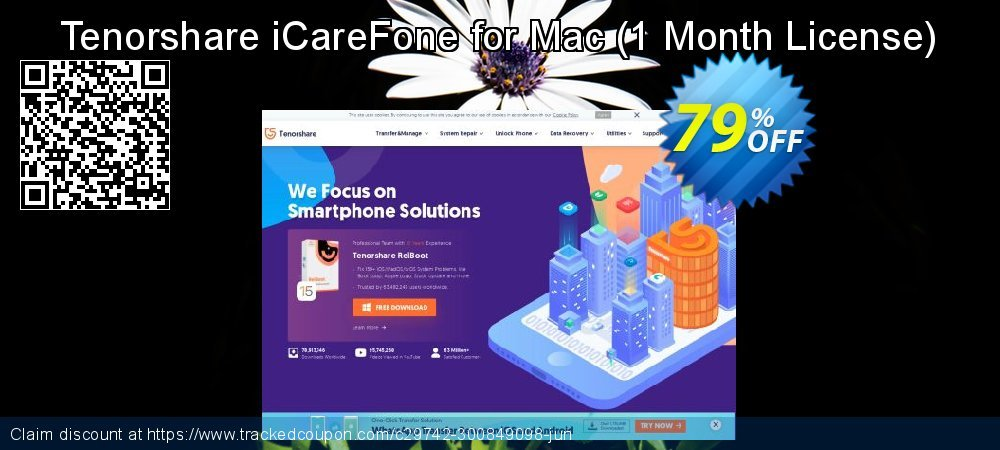 Tenorshare iCareFone for Mac - 1 Month License  coupon on Back to School promotion sales