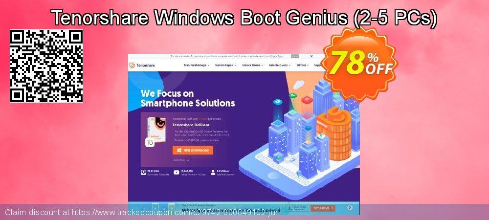 Tenorshare Windows Boot Genius - 2-5 PCs  coupon on Back to School promotions discount