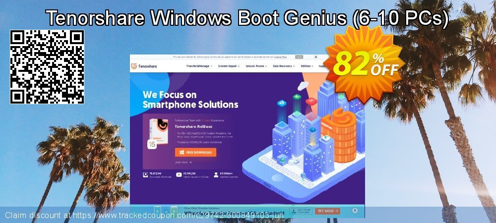 Tenorshare Windows Boot Genius - 1 Year/6-10 PCs  coupon on Lunar New Year super sale