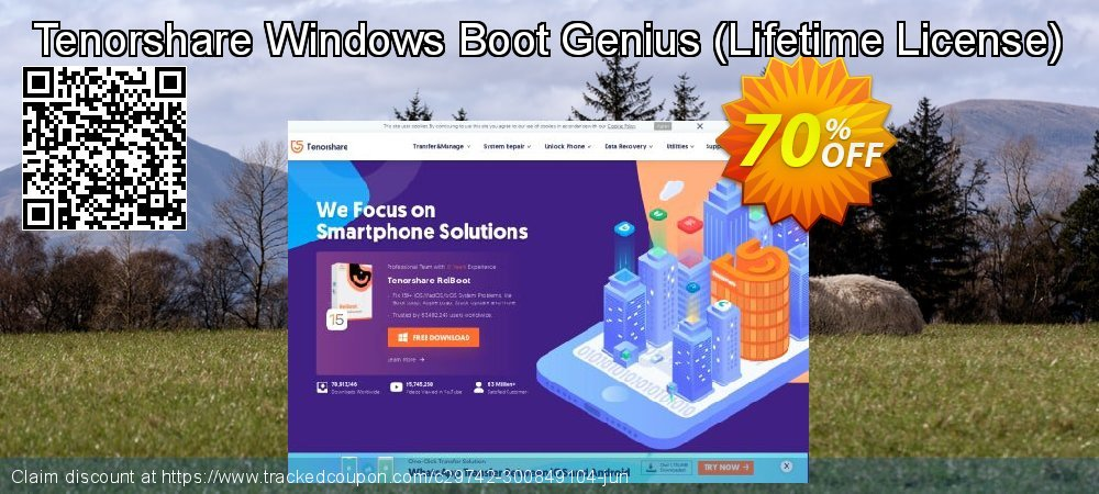 Tenorshare Windows Boot Genius - Lifetime License  coupon on Back to School offer super sale