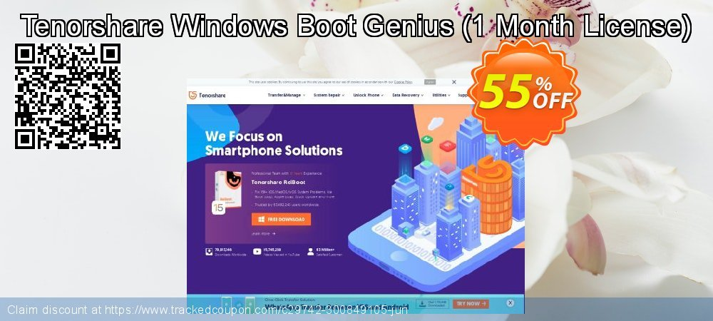 Tenorshare Windows Boot Genius - 1 Month/1 PC  coupon on New Year's Day promotions