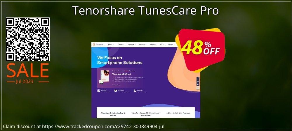 Tenorshare TunesCare Pro coupon on Halloween super sale