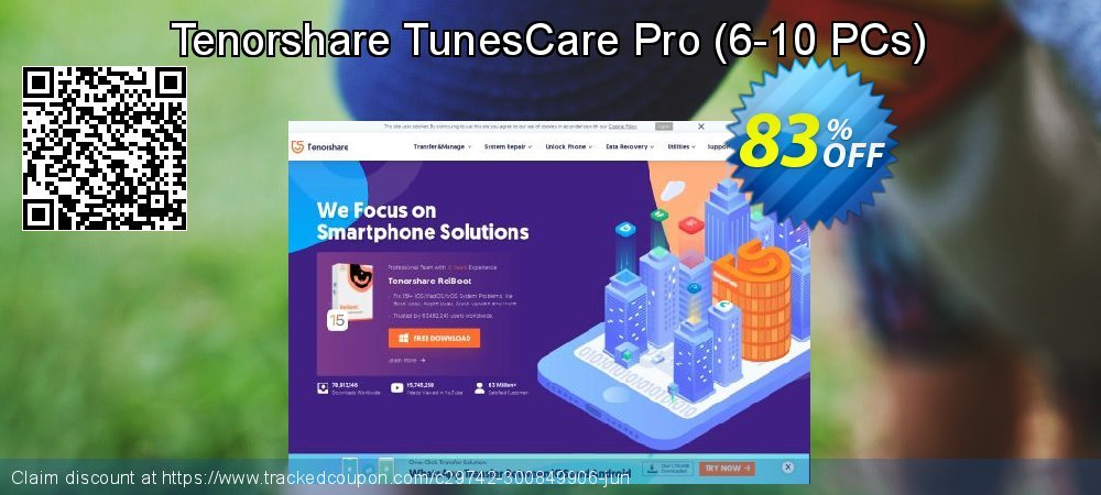 Tenorshare TunesCare Pro - 6-10 PCs  coupon on World Teachers' Day promotions