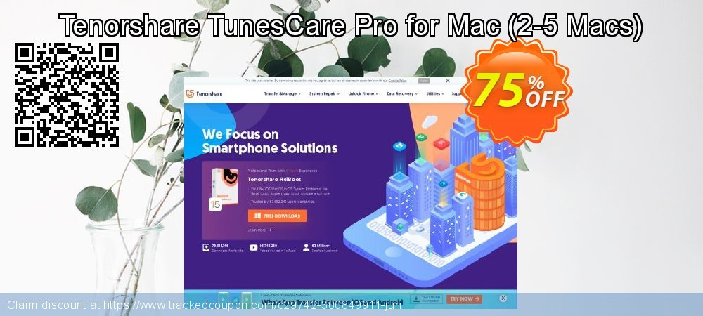 Tenorshare TunesCare Pro for Mac - 2-5 Macs  coupon on National Pumpkin Day offering discount