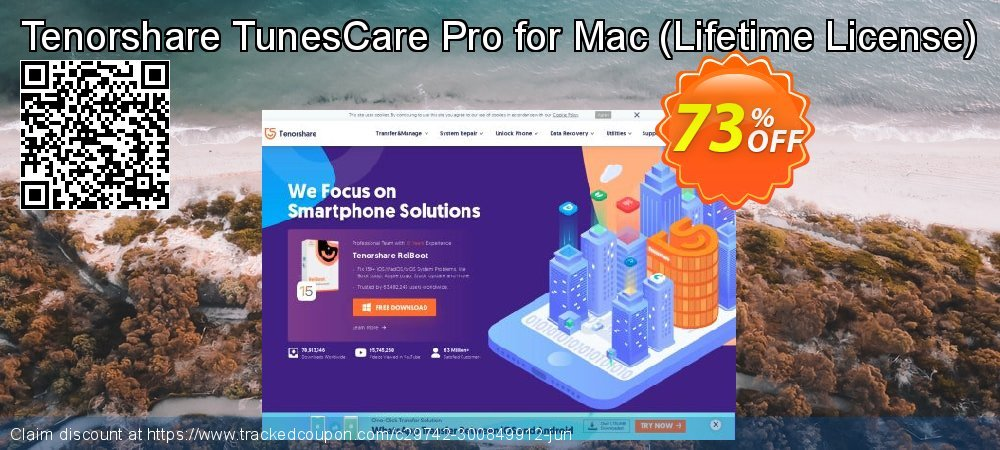 Tenorshare TunesCare Pro for Mac - Lifetime License  coupon on All Saints' Eve offering sales