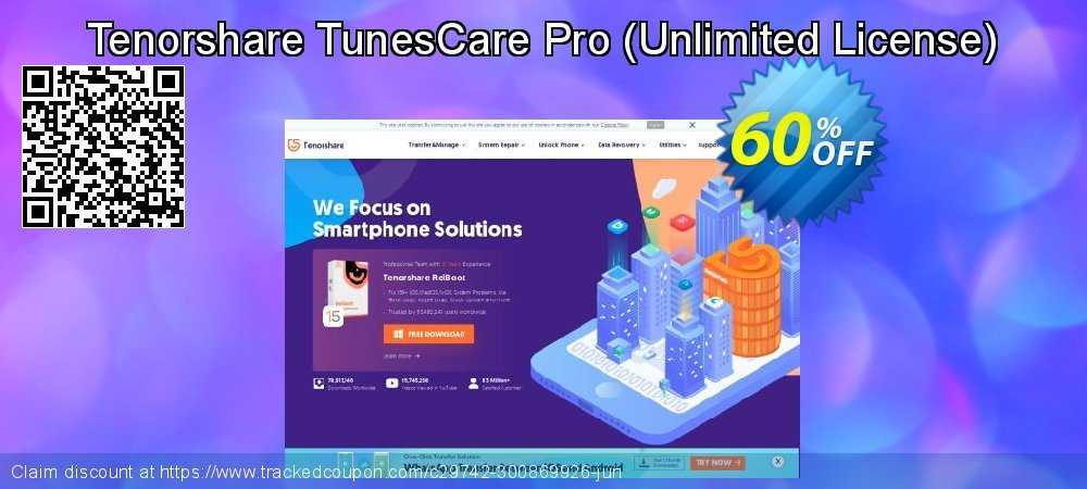 Tenorshare TunesCare Pro - Unlimited License  coupon on World Teachers' Day discount