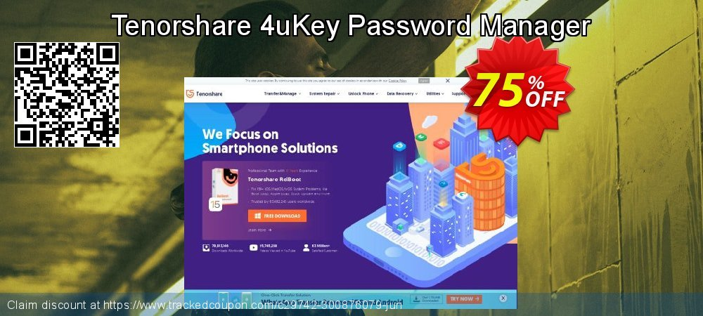 Tenorshare 4uKey Password Manager coupon on Coffee Day sales