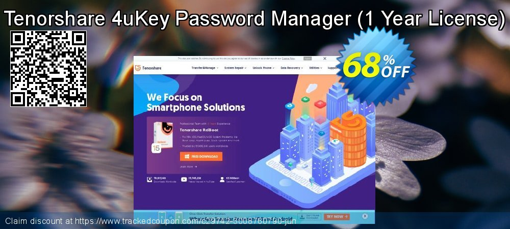 Tenorshare 4uKey Password Manager - 1 Year License  coupon on Coffee Day sales