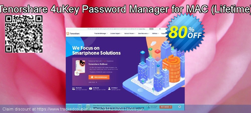 Tenorshare 4uKey Password Manager for MAC - Lifetime  coupon on National Noodle Day sales