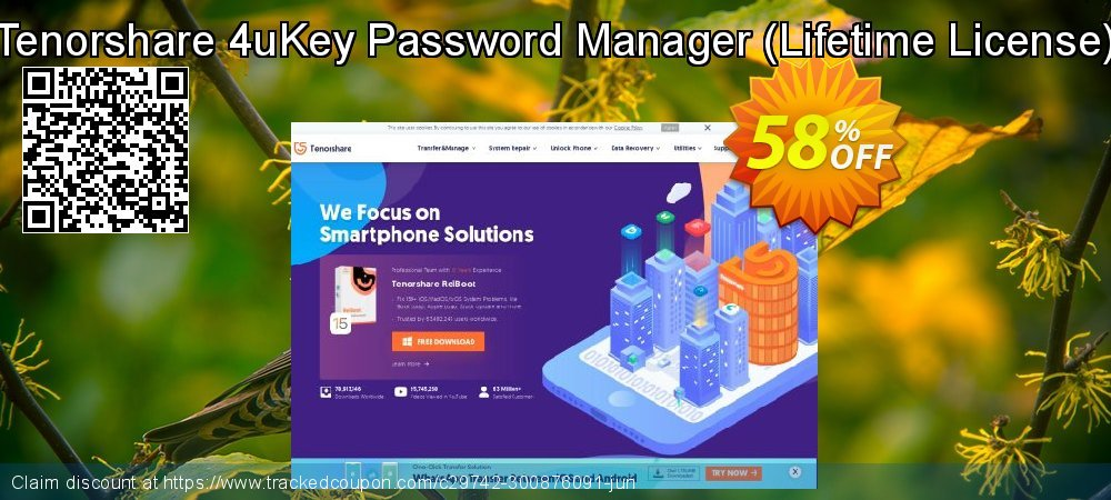 Tenorshare 4uKey Password Manager - Lifetime License  coupon on National Pumpkin Day discount
