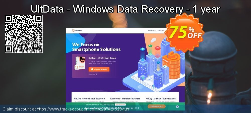 Claim 67% OFF UltData - Windows Data Recovery - 1 year Coupon discount July, 2019