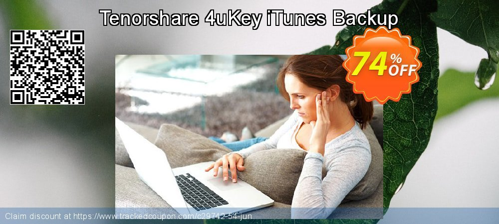 Claim 74% OFF Tenorshare 4uKey iTunes Backup Coupon discount June, 2020