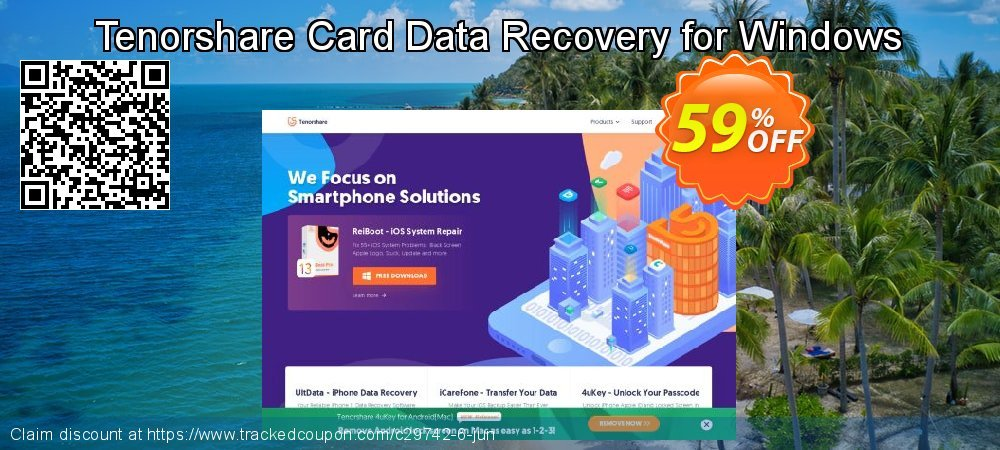 Claim 59% OFF Tenorshare Card Data Recovery for Windows Coupon discount January, 2020