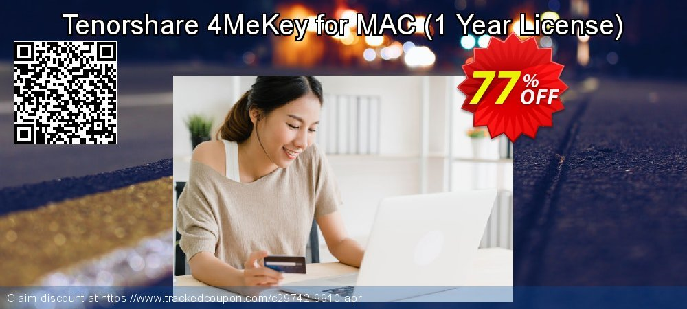 Tenorshare 4MeKey for MAC - 1 Year License  coupon on National Savings Day super sale
