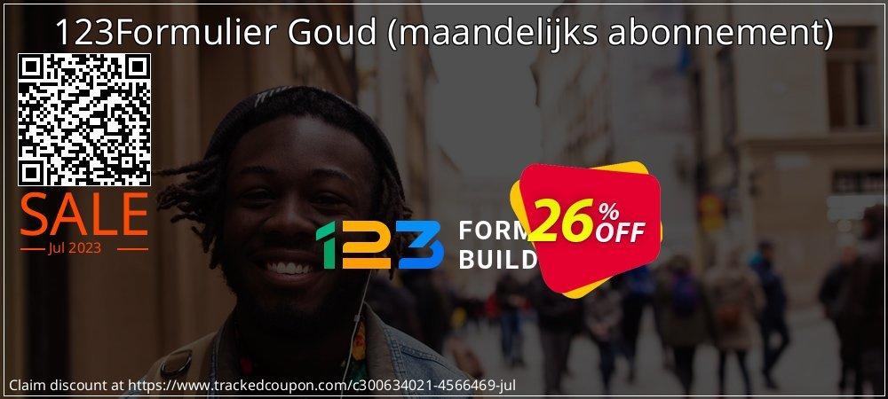 123Formulier Goud - maandelijks abonnement  coupon on New Year's Day offering discount