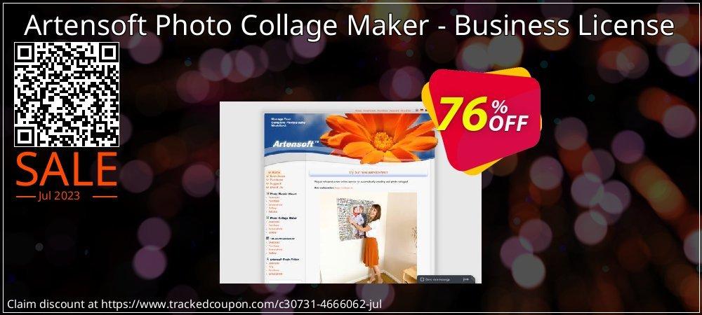 Get 76% OFF Artensoft Photo Collage Maker - Business License offering sales