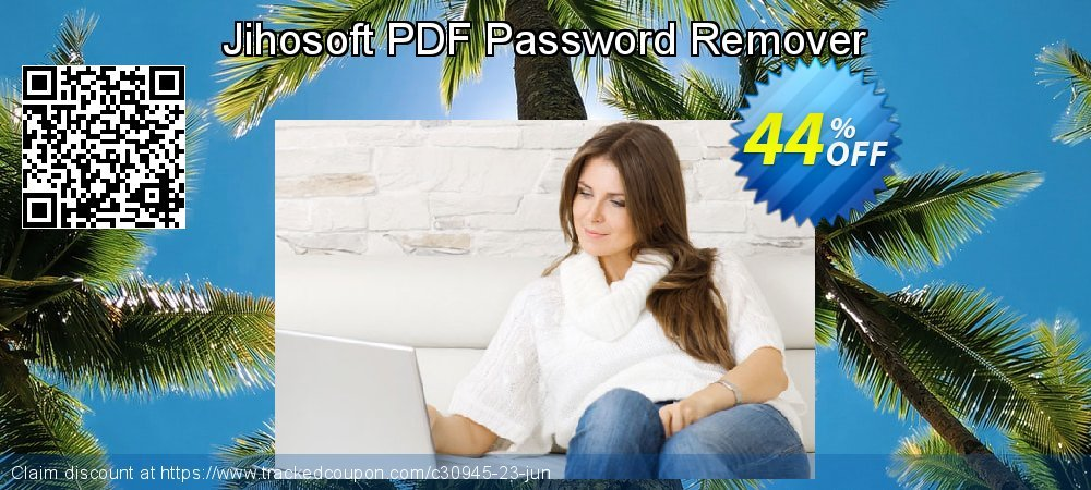 Jihosoft PDF Password Remover coupon on Back to School deals offering sales
