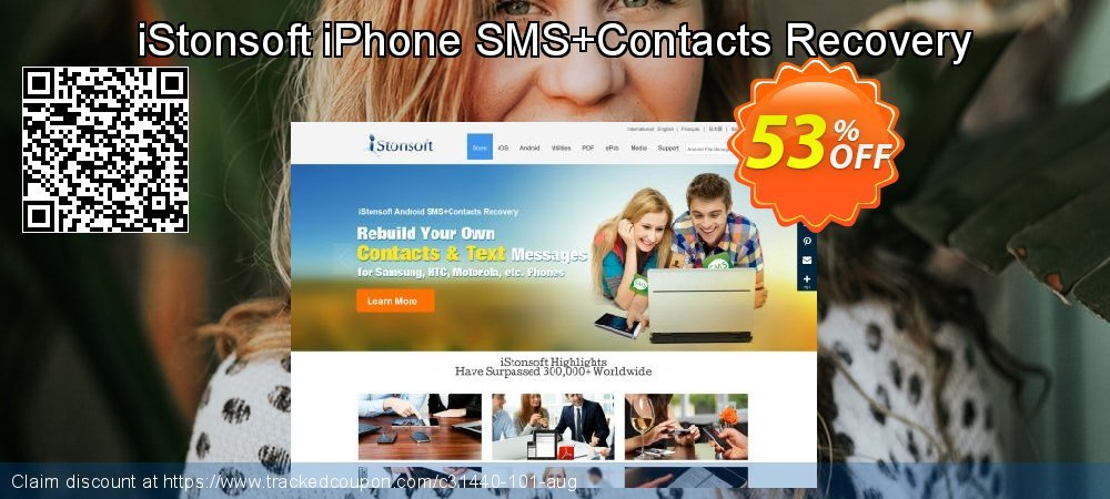 Claim 53% OFF iStonsoft iPhone SMS+Contacts Recovery Coupon discount August, 2020