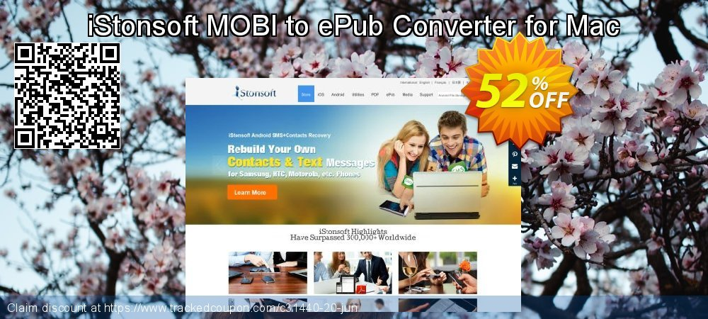 [50% OFF] iStonsoft MOBI to ePub Converter for Mac Coupon on University  Student deals offer, August 2019