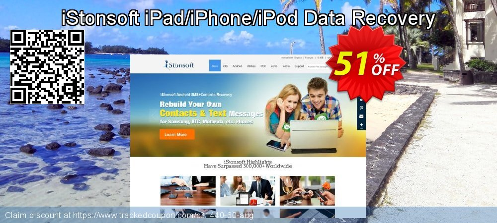 Claim 60% OFF iStonsoft iPad/iPhone/iPod Data Recovery Coupon discount July, 2019