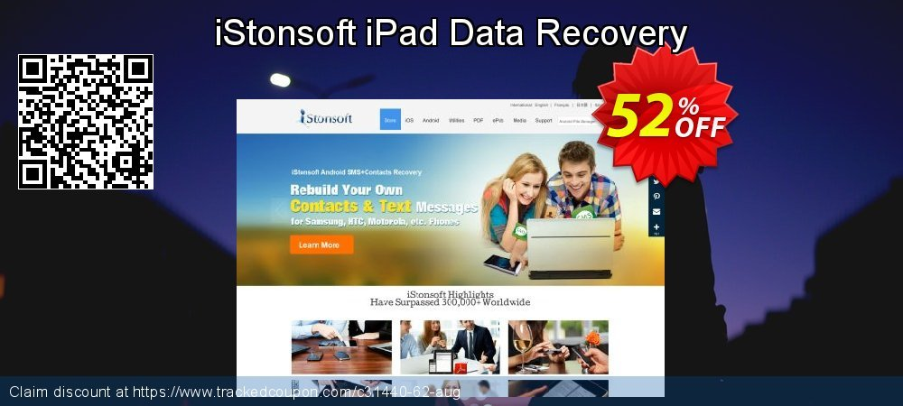 Claim 60% OFF iStonsoft iPad Data Recovery Coupon discount July, 2019