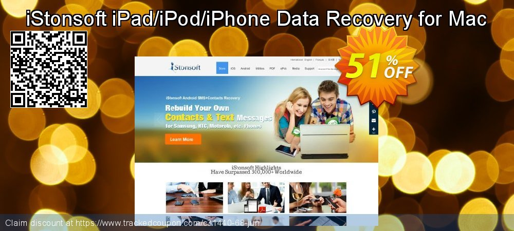 iStonsoft iPad/iPod/iPhone Data Recovery for Mac coupon on Exclusive Teacher discount super sale